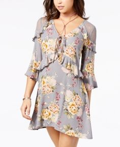Almost Famous Juniors  Sleeveless Faux-Wrap Dress  a401ebc5e
