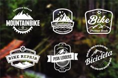 Mountain Bike Retro Badges by lovepower on Creative Market