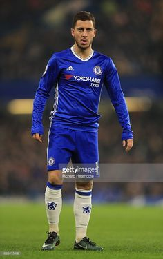 Eden Hazard of Chelsea in action during the Premier League match between Chelsea and Hull City at Stamford Bridge on January 22, 2017 in London, England.