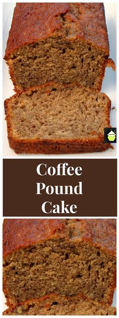 Moist Coffee Pound Cake - Great as a loaf or round cake, this is a soft, moist cake with a lovely gentle coffee taste and perfect with your morning coffee too!