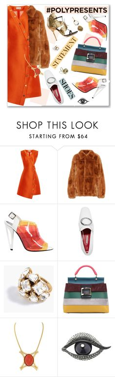 """#PolyPresents: Statement Shoes"" by nantucketteabook ❤ liked on Polyvore featuring SUNO New York, Marni, Sergio Rossi, Fendi, Dorateymur, J.Crew, Roger Vivier, Olsen, Lanvin and contestentry"