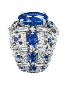 """One of the revered """"big three"""" coloured gemstones, blue sapphires are our…"""