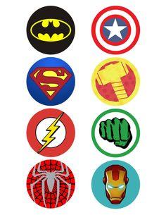image relating to Free Printable Superhero Logos named superhero emblems printable -