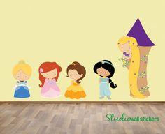 REUSABLE PRINCESS Wall Decal  Childrens Wall by StudioWallStickers, $125.00