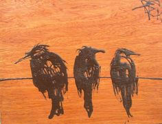 """The Roost 11x14x2"""" wood panel"""