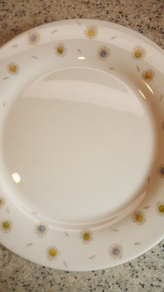 8 vintage Arcopal French milk glass floral side plates like pyrex ...