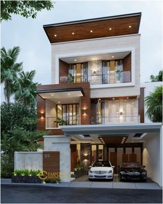 Top 30 Modern House Design Ideas For 2020 Flat House Design, 3 Storey House Design, Bungalow Haus Design, Modern Small House Design, Modern Exterior House Designs, Duplex House Design, House Front Design, Minimalist House Design, Modern Architecture House