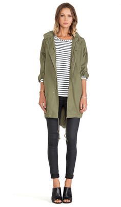 Capulet Oversized Survival Jacket in Military Green