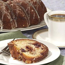 This moist, golden cake hides a double layer of cranberry sauce and a sprinkling of almonds. It's a lovely cake for Thanksgiving breakfast; and makes a satisfying autumn dessert, as well. This recipe comes from our James Beard award-winning best-seller,