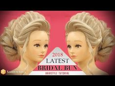 Bridal HIGH BUN Hairstyle Tutorial | Step by Step 2018 Stylish BUN Hairstyle | Krushhh by Konica - YouTube