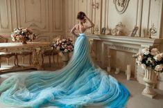 Bohemian Wedding Dress / Two Piece Wedding Dress / Corset Sky | Etsy Two Piece Wedding Dress, Wedding Skirt, Bohemian Wedding Dresses, Colored Wedding Dresses, One Piece Dress, Tulle Wedding, Wedding Corset, Wedding Bells, Gowns