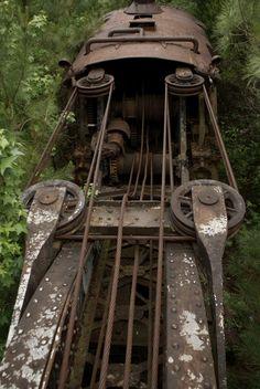 Railroad Steam Crane, Dequeen, AR, USA