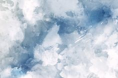 This canvas is artfully mixed with different shades of blue and white for a watercolour wallpaper that excels when used in the kitchen or the foyer.