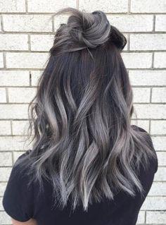 Luxury best hair color for gray hair dye gray color # # Tint hair hair tones # # - Ombre Hair Grey Hair Dye, Hair Color For Black Hair, Cool Hair Color, Dyed Hair, Smoke Hair, Medium Hair Styles, Long Hair Styles, Hair Medium, Cinnamon Hair