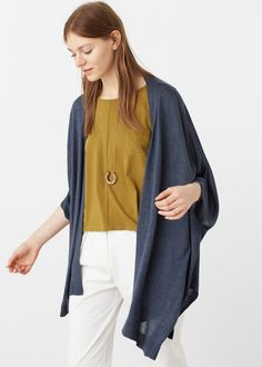 Knit cape - Cardigans and sweaters for Woman | MANGO USA