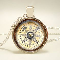 Vintage Compass Handcrafted Keepsake Pendant  - Antique Compass - Old World - Steampunk Jewelry on Etsy, $12.95