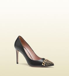studded leather pump