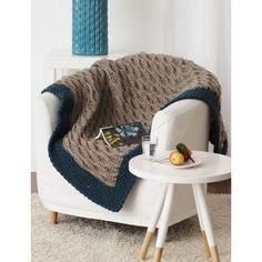 Free Easy Afghan Crochet Pattern - uses half-double crochet stitch and Bernat Softee Chunky yarn