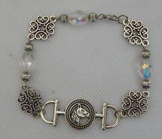 Silver Horse Link Bracelet Jewelry Handmade NEW Accessories Chain Fashion #Handmade #Chain
