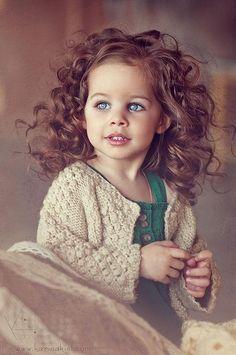 Springy Curls & Blue Eyes
