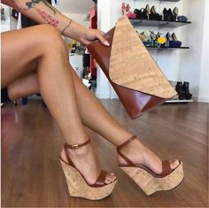 58 Of The Most Trending Casual Shoes Ideas You Will Want To Try Shoes Fashion & Latest Trends Schuhe casual Fashion Ideas Latest Shoes Trending Trends Wedge Sandals, Wedge Shoes, Shoes Heels, Sexy Sandals, Sexy Heels, Cute Shoes, Me Too Shoes, Frauen In High Heels, Platform High Heels