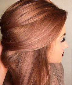 This rosy hair color is amazing! I wish I could do this with my hair