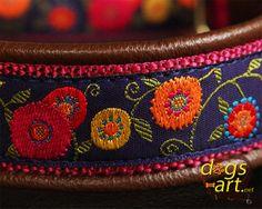 dogsart SUNSHINE FLOWER Martingale Leather by dogsartcollars, $36.50
