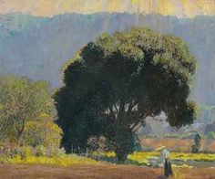 """""""In the Valley,"""" Daniel Garber, 1930s, oil on canvas, 18 x 22¼"""", private collection."""