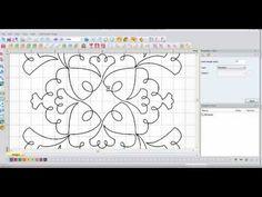 ▶ Floriani My Decorative Quilter (MDQ) Magic Wand Redwork - YouTube