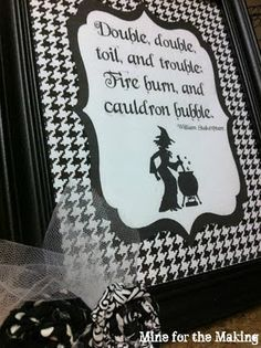 Mine for the Making: Black and White Halloween Printable