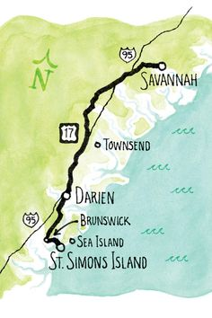 Trip Details - Georgia Coast Road Trip - Southernliving. Drive along the coast on scenic US 17 from Savannah to St. Simon's Island for a two-day trip you'll never forget.