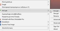 - Το AxCrypt είναι το κορυφαίο λογισμικό κρυπτογράφησης αρχείων ανοικτού κώδικα για τα Windows. To AxCrypt μπορεί να αποδειχθεί ένα χρήσιμο συμπλήρωμα για υπηρεσίες όπως το Dropbox το Google Drive Live Mesh SkyDrive και Box.net. Με τον κωδικό πρόσβασης που θα καθορίσετε παράλληλα με τη χρήση ισχυρής κρυπτογράφησης που χρησιμοποιεί η εφαρμογή μπορείτε να προστατεύσετε οποιοδήποτε αριθμό αρχείων .  - Ανοίξτε τα αρχεία σας κλικάροντας το εικονίδιο My computer (ο υπολογιστής μου) κάντε κλικ στον…