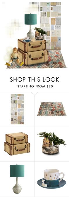 """""""Suitcase Season"""" by mangoexotic ❤ liked on Polyvore featuring interior, interiors, interior design, home, home decor, interior decorating, Eka, Pier 1 Imports, Disaster Designs and vintage"""