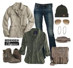 """""""Untitled #489"""" by gallant81 ❤ liked on Polyvore featuring AG Adriano Goldschmied, Tommy Hilfiger, American Eagle Outfitters, Patricia Nash, Ray-Ban, Pieces and River Island"""