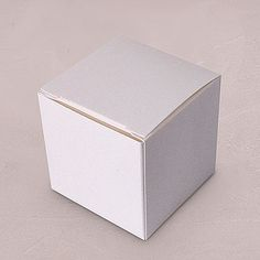 Cube Favor Boxes - White $0.58 each
