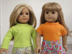 Doll knit shirt pattern