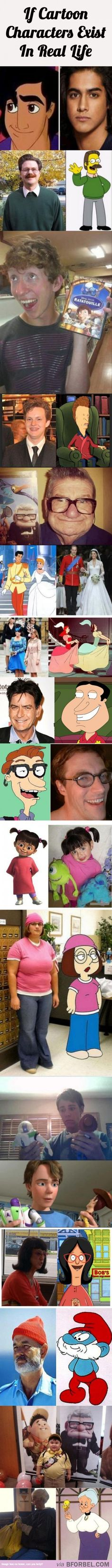 16 Cartoon Characters That Exist In Real Life…