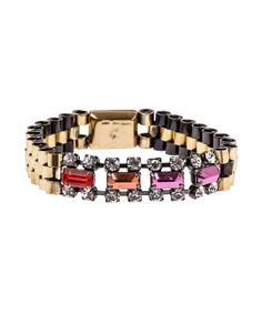 Multicolour Crystal Rolex Link Bracelet, Iosselliani.