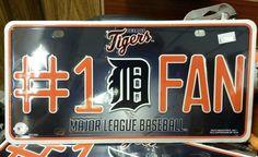 MLB Detroit Tigers Metal #1 Fan License Plate