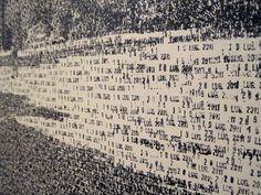 schilderij gemaakt met een datumstempel