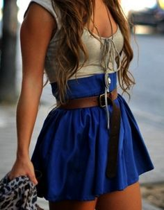 Royal Blue High-Waisted