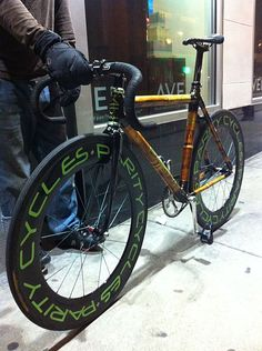 Bamboo bicycle in Chicago - Parity Cycles