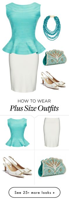 """Outfit #9"" by sunshine24-7-1 on Polyvore featuring Yoek, Salvatore Ferragamo and Kenneth Jay Lane"