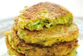 Broccoli Pancakes - Dr. Weil's Healthy Kitchen  Replace each egg with 1Tbsp flax seed, ground, and 3 Tbsp water.  I made these and they are great.