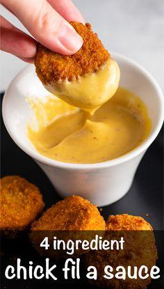 Chic Fil A Sauce Recipe, Chik Fil A Sauce, Honey Mustard Recipes, Homemade Honey Mustard, Honey Mustard Sauce, Honey Mustard Dressing, Sauce Recipes, Chicken Recipes, Cooking Recipes