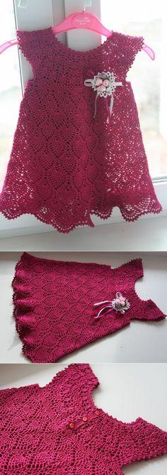 Fabulous Crochet a Little Black Crochet Dress Ideas. Georgeous Crochet a Little Black Crochet Dress Ideas. Crochet Dress Girl, Baby Girl Crochet, Crochet Baby Clothes, Crochet For Kids, Crochet Dresses, Crochet Toddler, Little Girl Dresses, Baby Dresses, Baby Knitting Patterns