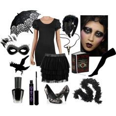 The Raven by ghostswaltz on Polyvore featuring polyvore, fashion, style, Forever 21, Oasis, Raven Denim, Anna Sui, Masquerade, John Galliano and Edition