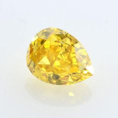 Loose Yellow Pear Cut Diamond with FREE 18K #jewelry #ring @EtsyMktgTool http://etsy.me/2fKuVC7