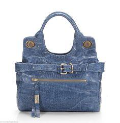 07fe97c2c863ab Foley + Corinna Denim Blue Croc Leather Jet Set City Mini Tote Bag NWT  #FoleyCorinna #TotesShoppers