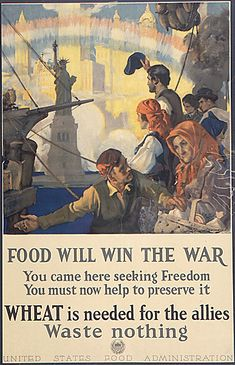 """WWI poster from the USFA advocating """"Food Will Win the War""""  (Ties into BJU Chapter 20, The Great War)"""